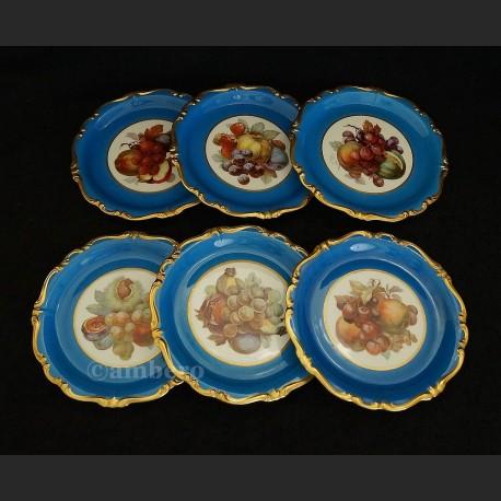 Talerze z owocami luksusowe Rosenthal Pompadour ok. 1928 r.