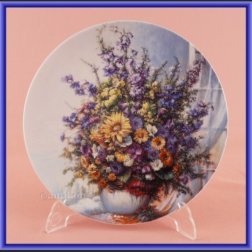 Ekskluzywna porcelana Rosenthal Kwiaty w oknie talerz kolekcjonerski cała seria