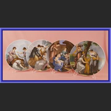 Przepiękne sceny rodzajowe z Rzymu talerze kolekcjonerskie Rosenthal