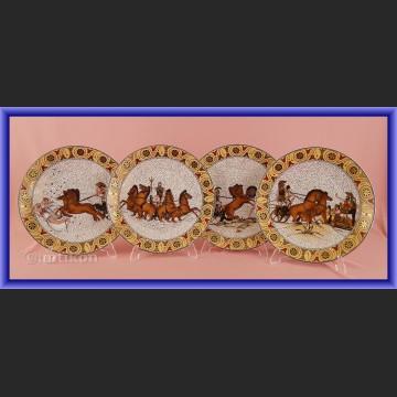 Ekskluzywne talerze kolekcjonerskie Rosenthal Iliada Homer