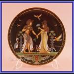 Talerz kolekcjonerski Egipska porcelana 4 sztuki z certyfikatem