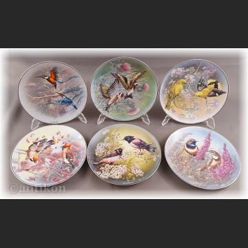 Skarby świata ptaków talerz kolekcjonerski cała seria Rosenthal