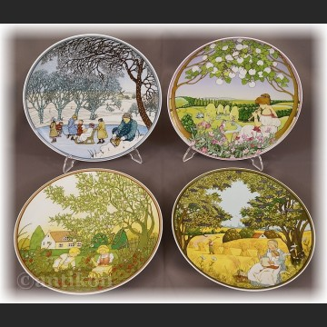 Cztery pory Roku talerze kolekcjonerskie Villeroy & Boch
