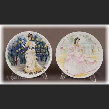 Paryska moda Limoges talerze kolekcjonerskie 12 sztuk