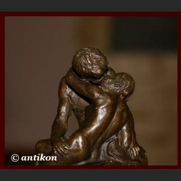 Pocałunek A. Rodin śliczna rzeźba sygnowany brąz Francja