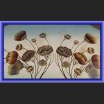 Wmf secesyjna duża taca z kwiatami