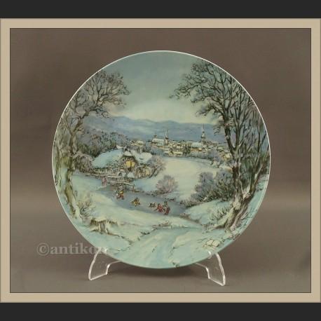 Talerz kolekcjonerski Rosenthal Zima cztery pory roku
