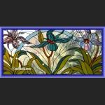 Witraż okienny secesyjny wykwintny szkalny