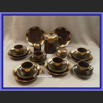 Serwis Rosenthal minimalistyczny czekolada ze złotem