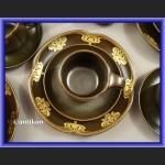 Porcelana Rosenthal minimalistyczny serwis kawa herbata czekolada ze złotem