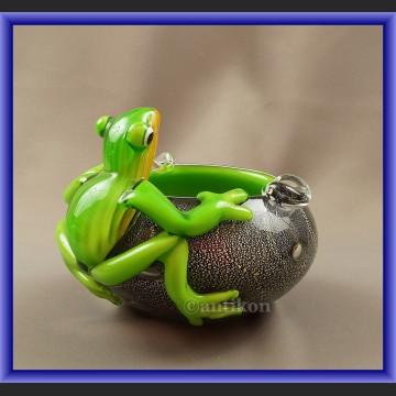 Duża szklana misa żaba z Murano