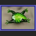 Dekoracyjne szkło z Murano szklana żaba na szczęście