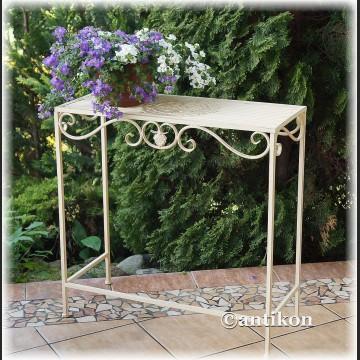 Biały stół kwietnik prowansalski metalowy