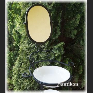 Zestaw łazienkowy na stelażu metalowym retro