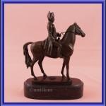 Figurka z brązu Napoleon na koniu