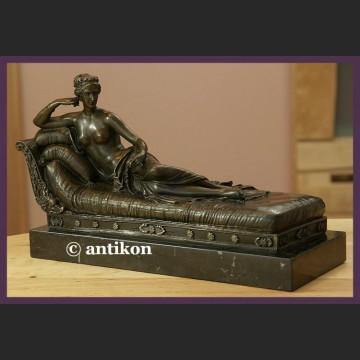 Piękna Paulina cudna rzeźba prawdziwy brąz A. Canova