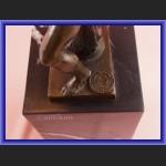 Figurka z brązu mityczni zapaśnicy Herkules