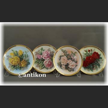 Ekskluzywna porcelana Furstenberg Róże cała seria talerzy kolekcjonerskich
