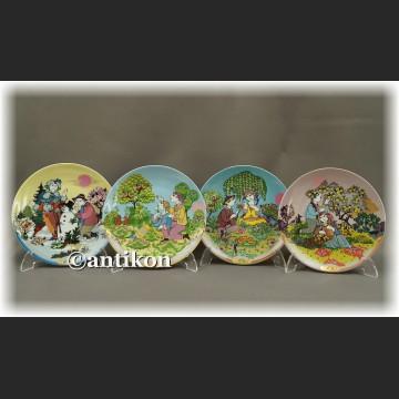Cztery pory Roku talerze kolekcjonerskie Rosenthal z certyfikatem