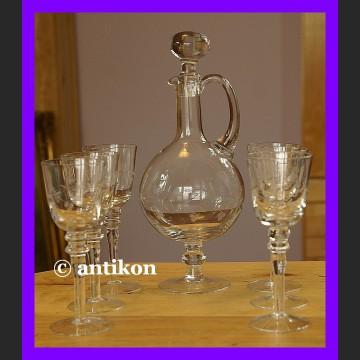 Karafka kieliszki do wina lub absyntu świetny zestaw