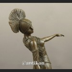 Figurka z brązu tancerka art deco francuska rzeźba