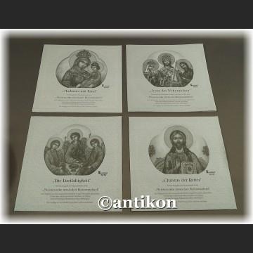 Rosyjskie ikony komplet talerzy kolekcjonerskich