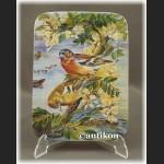 Talerze kolekcjonerskie Ptaki Świata seria z certyfikatem