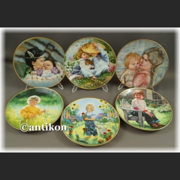 Ekskluzywna porcelana Nasze Dzieci kolekcjonerskie talerze cała seria z certyfikatem