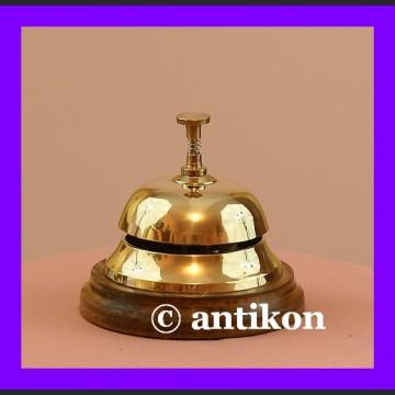 Dzwonek hotelowy mosiężny duży