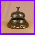 Dzwonek hotelowy do recepcji duży mosiądz antyczny