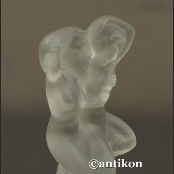 Lalique szkło nimfa i faun piękna figurka