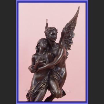 Rzeźba z brązu Amor i Psyche historia miłości