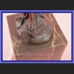 Rzeźba z brązu tancerka śliczna kobiera z chustą