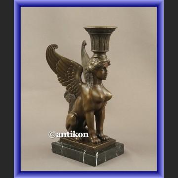 Rzeźba z brązu skrzydlaty sfinks niesamowity
