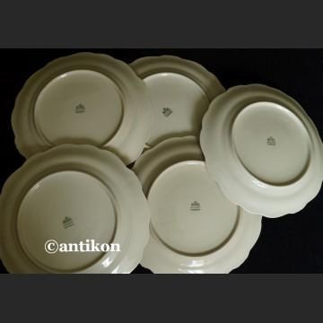 Porcelana Rosenthal Pompadour  jesienne talerze deserowe z okresu II wojny światowej