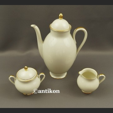 Serwis Furstenberg kremowa porcelana garnitur księżna