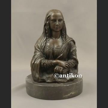 Rzeźba z brązu Mona Lisa popiersie duża fiugura