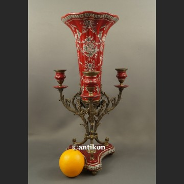 Wazon barokowy ze świecznikami ozdoba środka stołu unikat