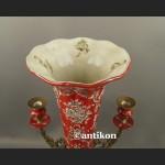 Wazon barkowy ze świecznikami ozdoba środka stołu unikat