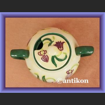 Porcelanowa cukierniczka ręcznie malowana dzwonki