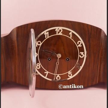 Zegar bufetowy Art Deco piękny drewniany Gustav Becker