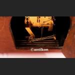 Zegar bufetowy piękny drewniany Gustav Becker