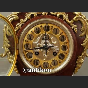 Stary zegar kominkowy w stylu Boulle Francja ok. 1860 r Marti obiekt muzealny