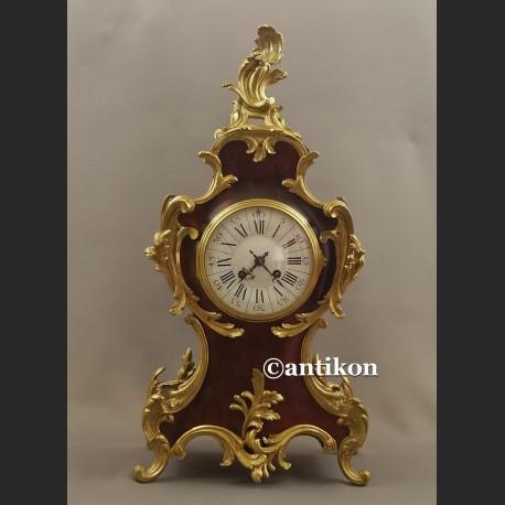 Zegar stary kominkowy Boulle Francja 1878 r. obiekt muzealny