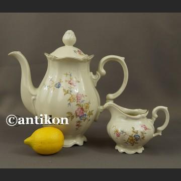 Porcelana Bawarska dzbanek do herbaty kawy i mlecznik
