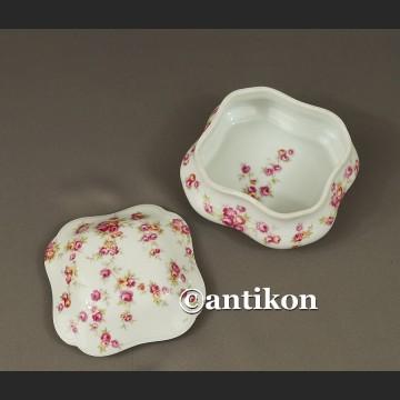 Limoges szkatułka z różami francuskie puzderko