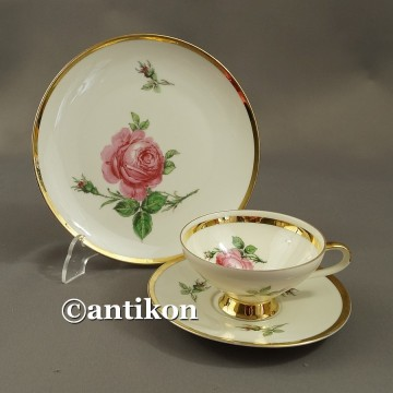 Filiżanka kolekcjonerska stara bawarska porcelana Róża trio