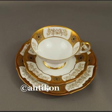 Filiżanka kolekcjonerska stara porcelana Weimar eleganckie trio