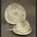 Filiżanka kolekcjonerska stara bawarska porcelana trójkatne trio
