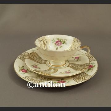 Filiżanka kolekcjonerska stara bawarska porcelana zestaw śniadaniowy trio